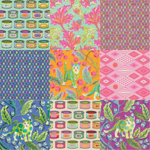 Designer Bundle - Tula Pink Tabby Road - Fat Quarter Bundle 9 x FQ