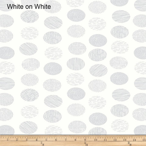Oval Essence white on white Quilt Back - 108""