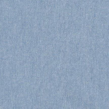 Robert Kaufman Worker Chambray in Blue