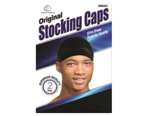 Men's Stocking Wave Cap Black 2pc