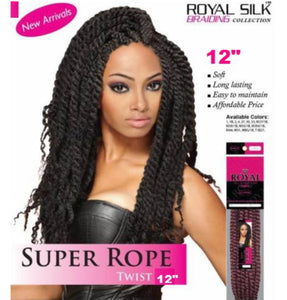 "Short Rope (Mambo) Twist 12"" Royal Silk Collection"