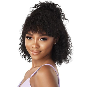 OUTRE WET AND WAVY MYTRESSES PURPLE LABEL UNPROCESSED HUMAN HAIR WIG DEEP BOB