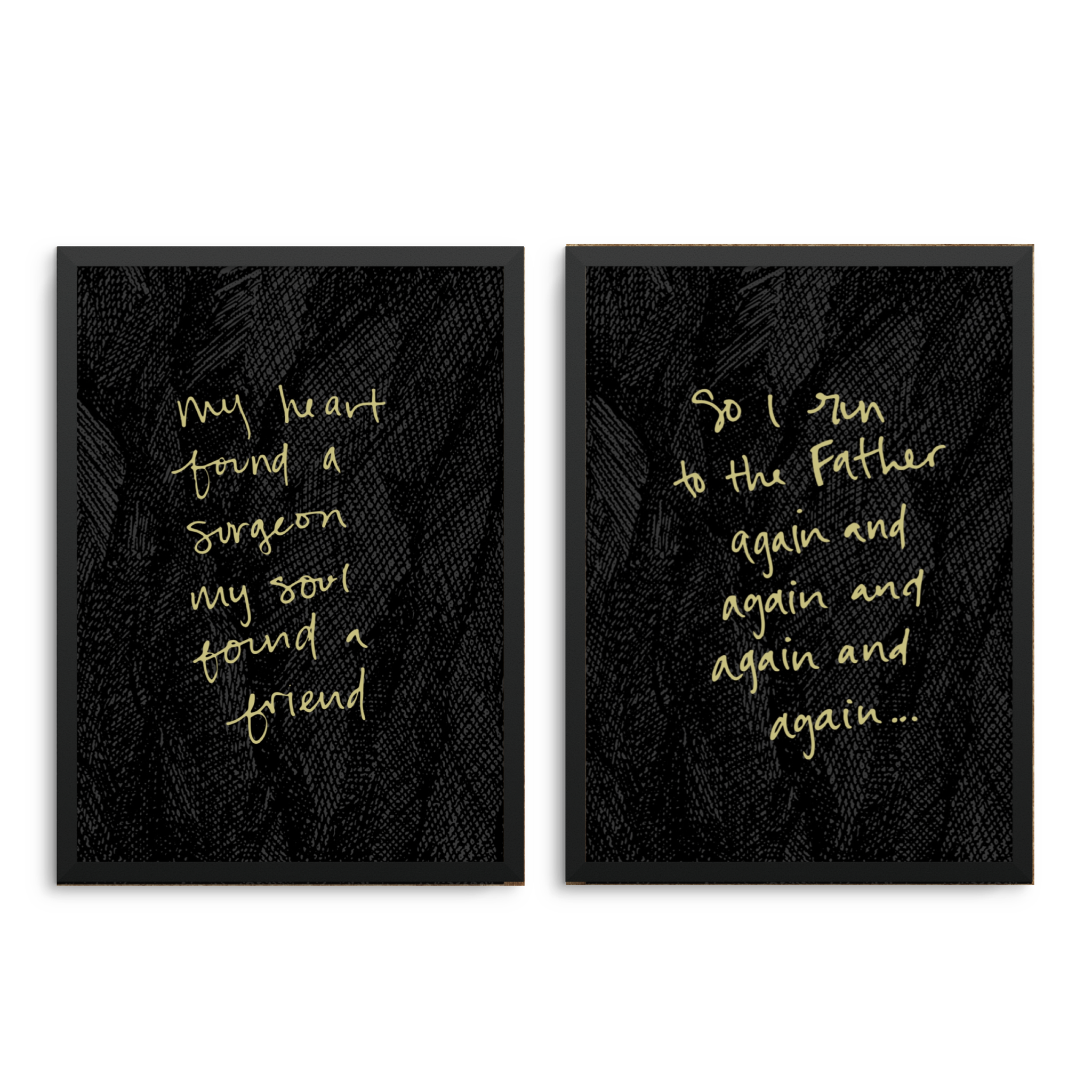 RUN TO THE FATHER - 8x10 LYRIC PRINT SET