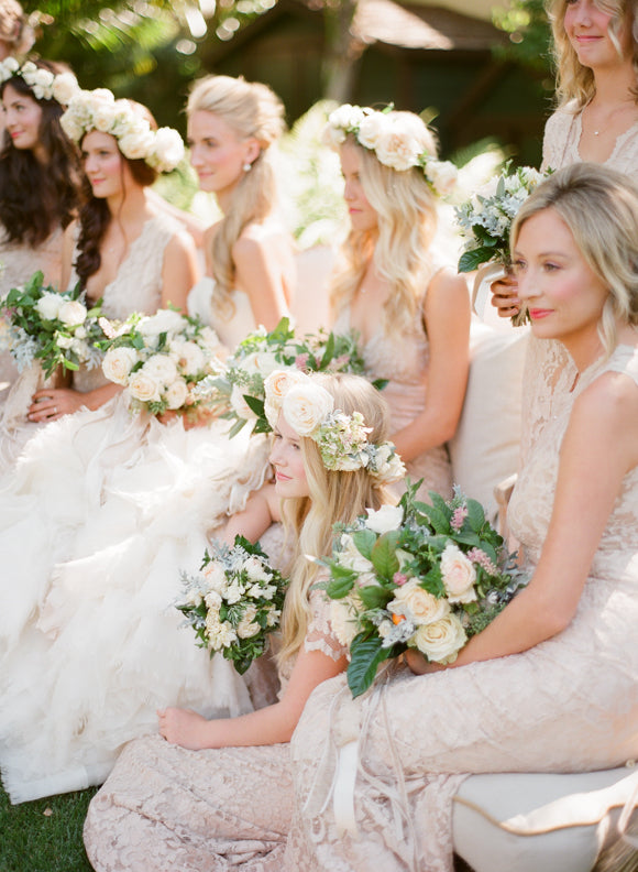 flower crowns and nude bouquets
