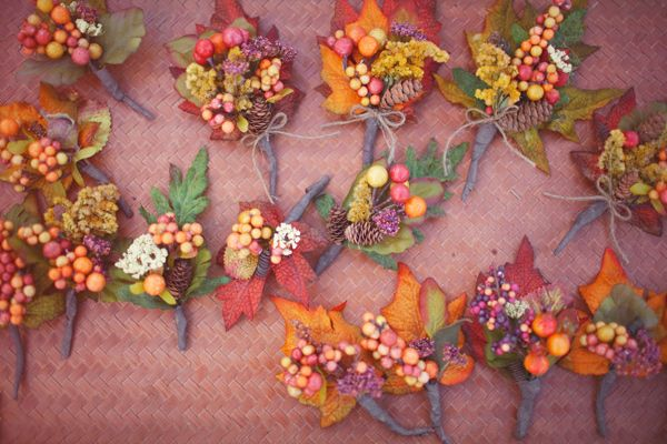 Autumn inspired buttonhole