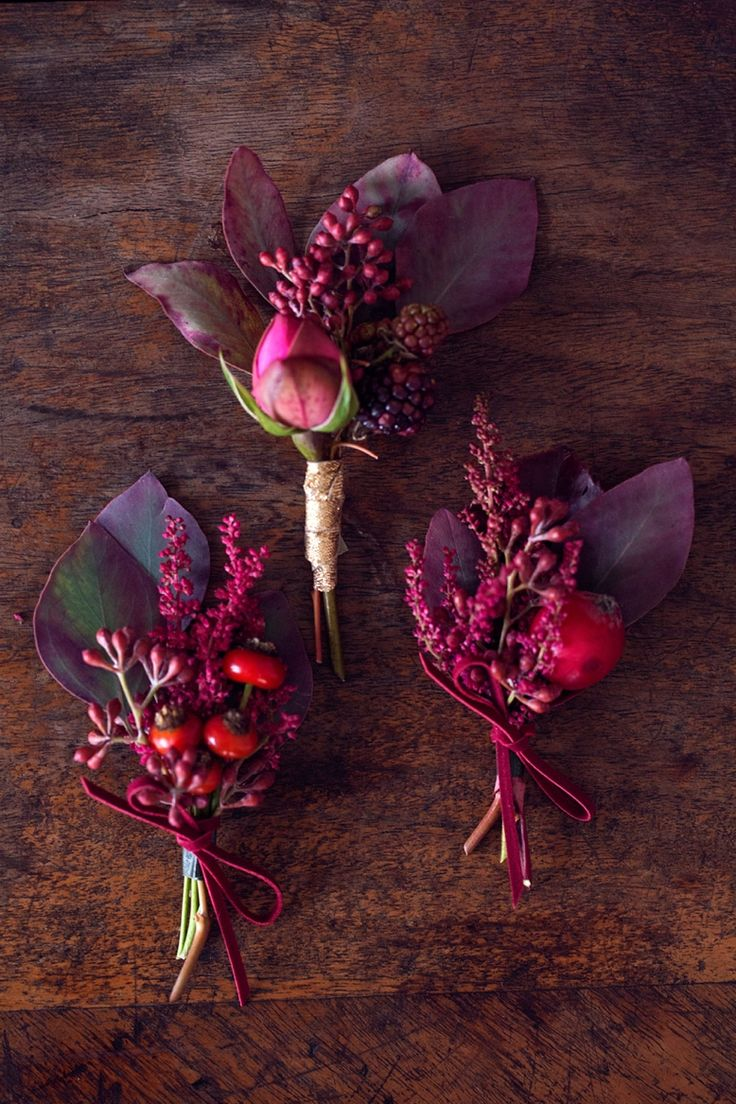 Purple and pink buttonhole