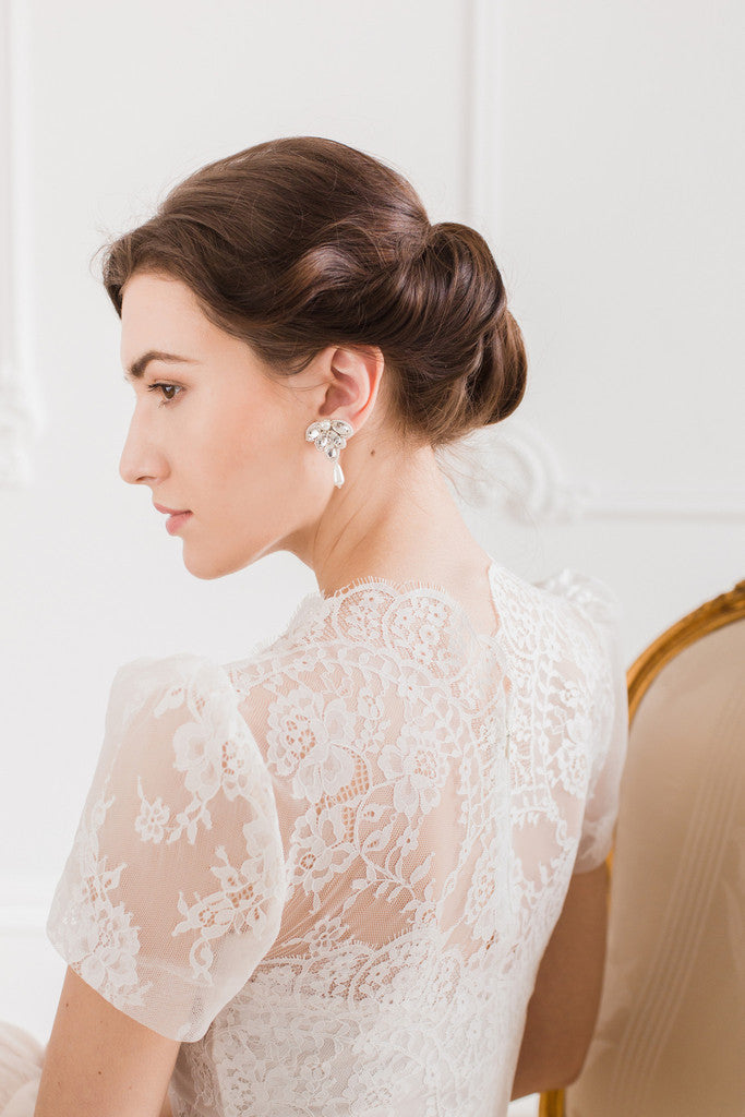 Bridal earrings by Britten Weddings