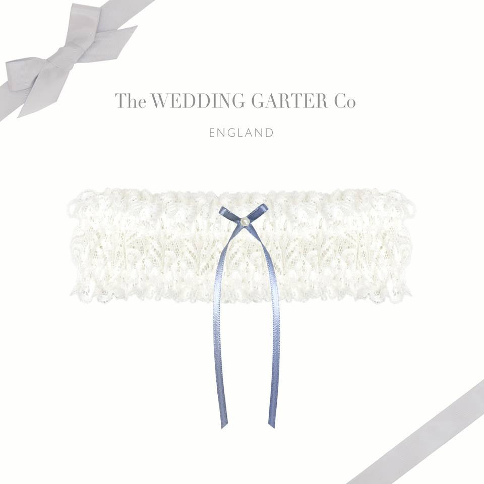 Traditional lace wedding garter