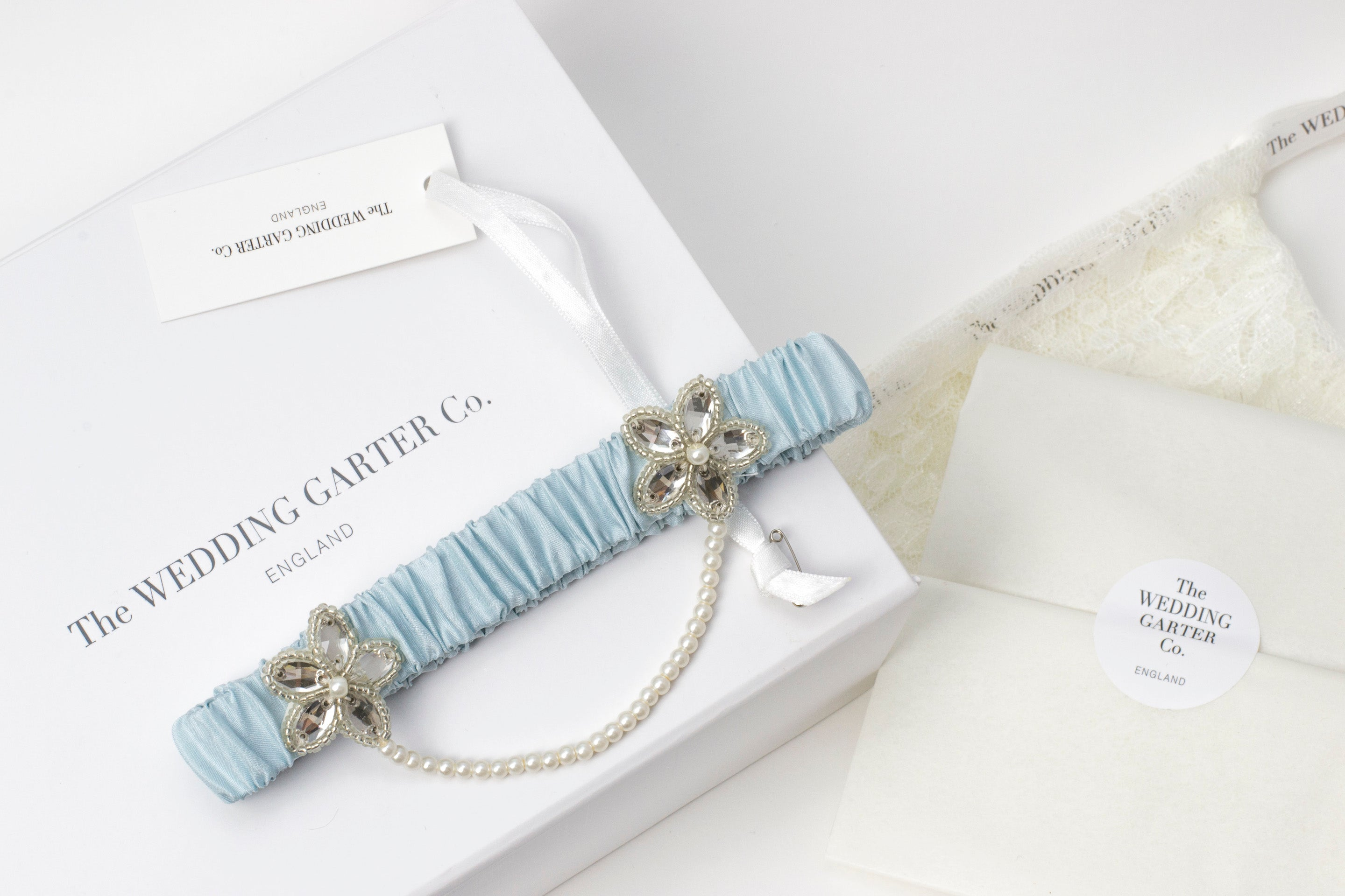 blue wedding garter sale