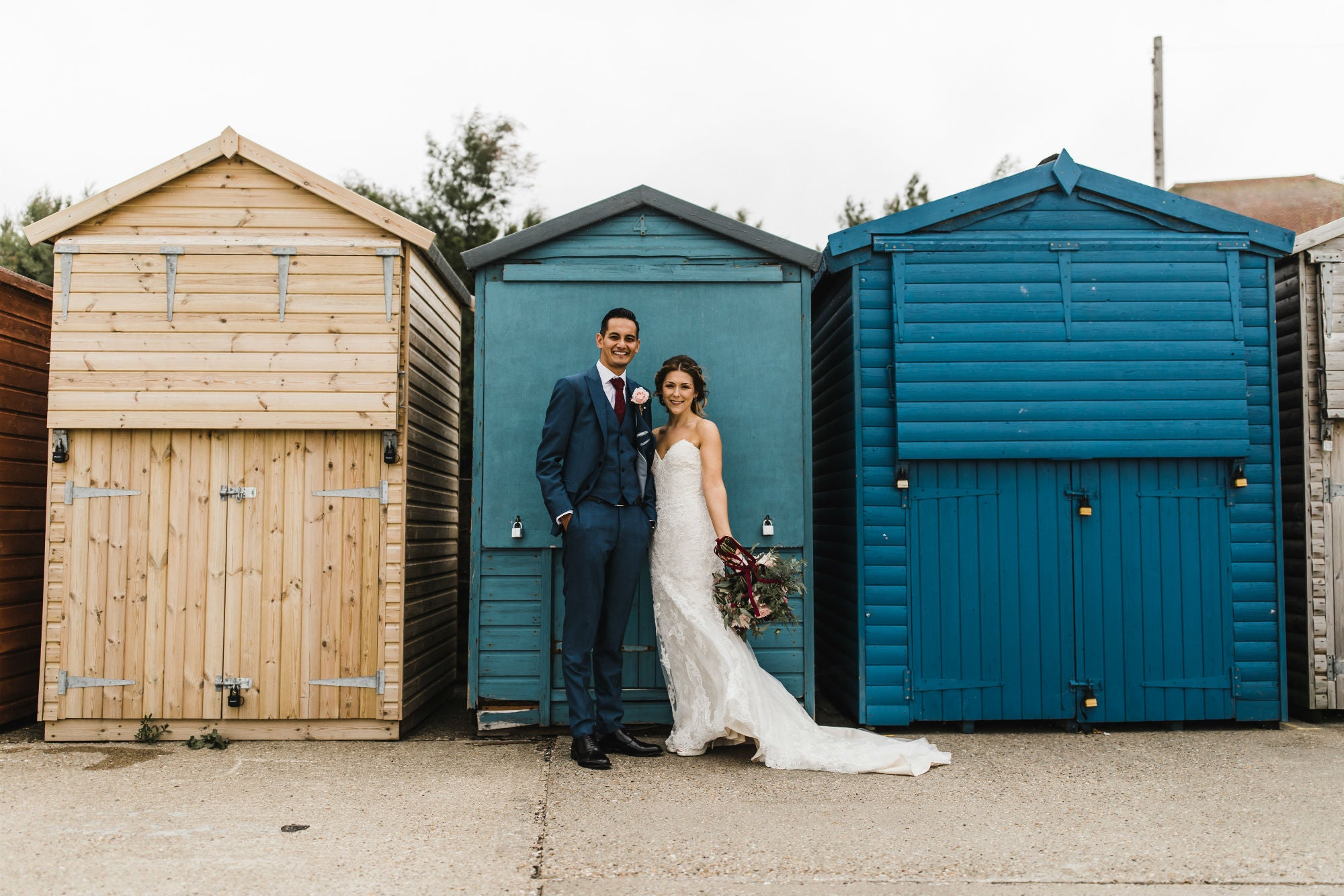 beach hut wedding