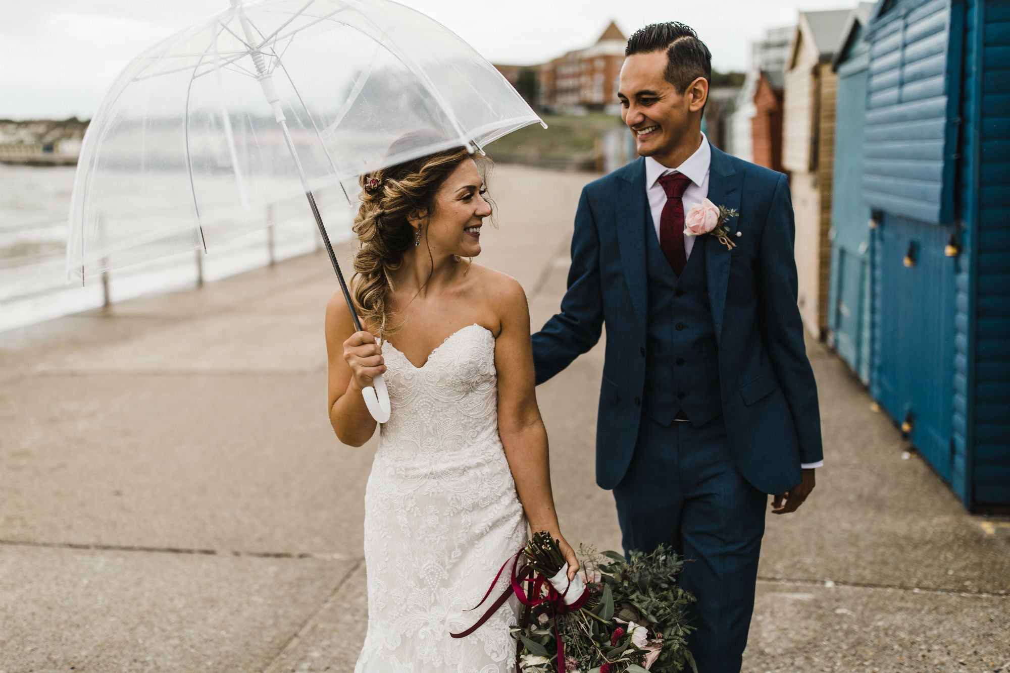 wedding dress umbrella