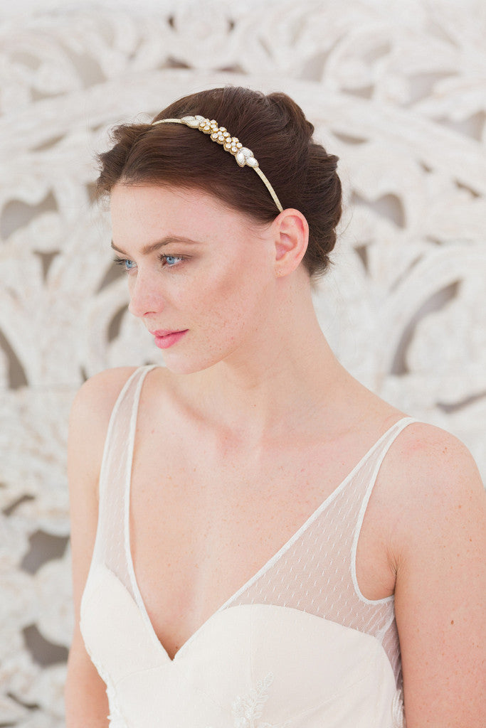 Bridal head bands by Britten Weddings