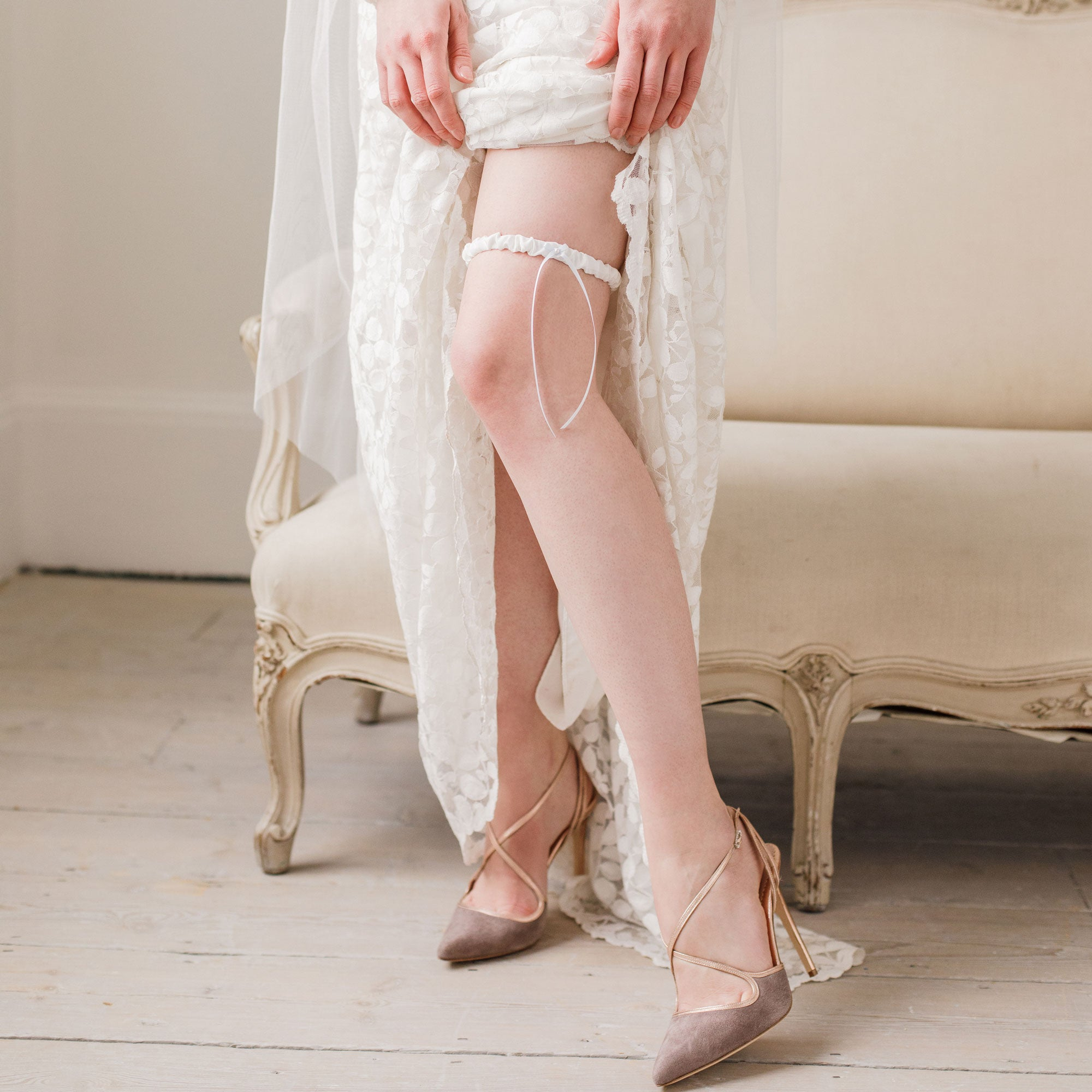 silk wedding garter