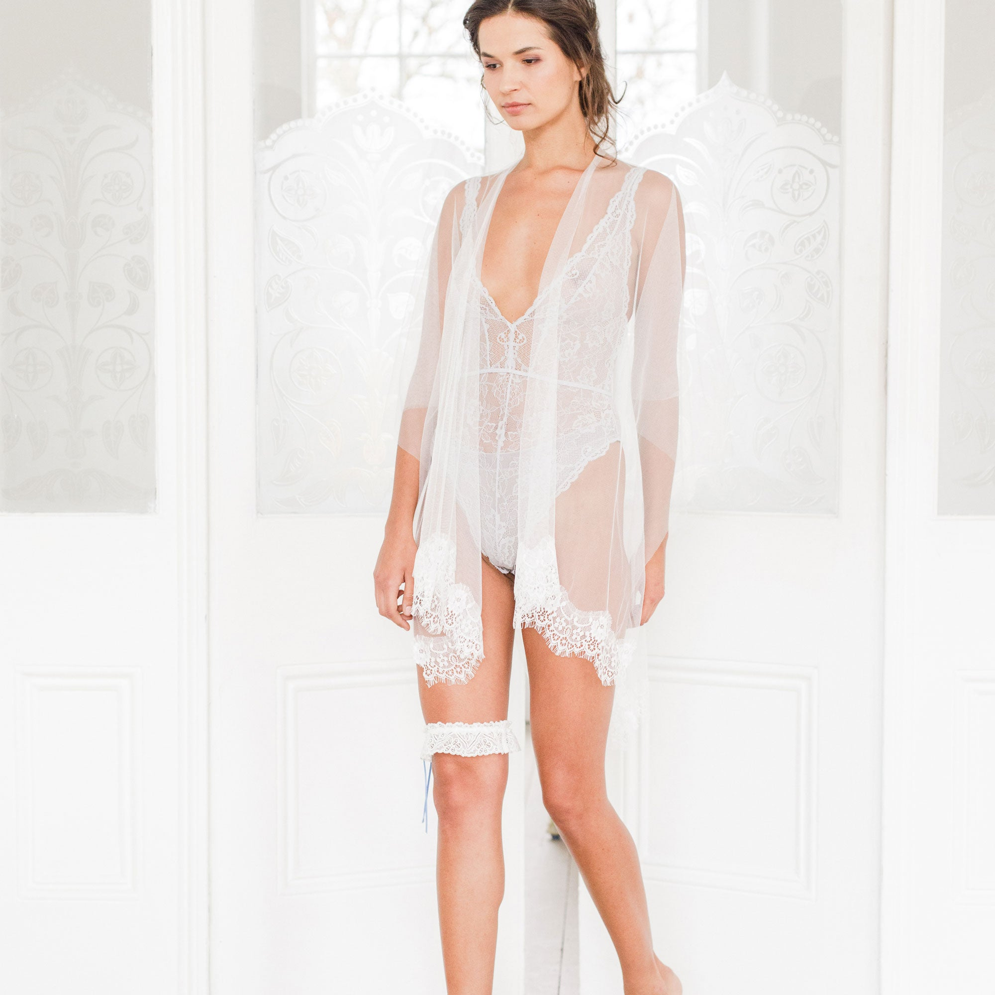 lace tulle cover up