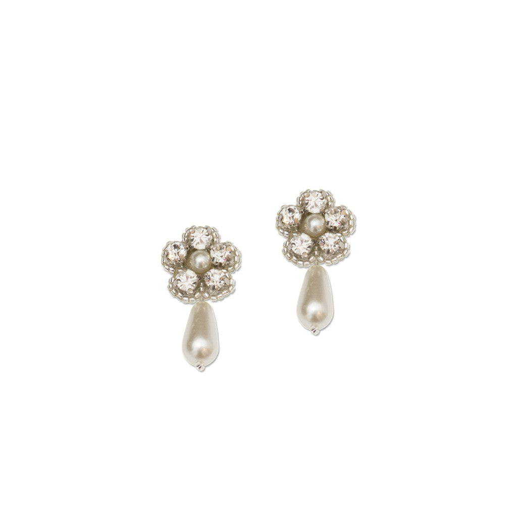 floral bridal stud earrings