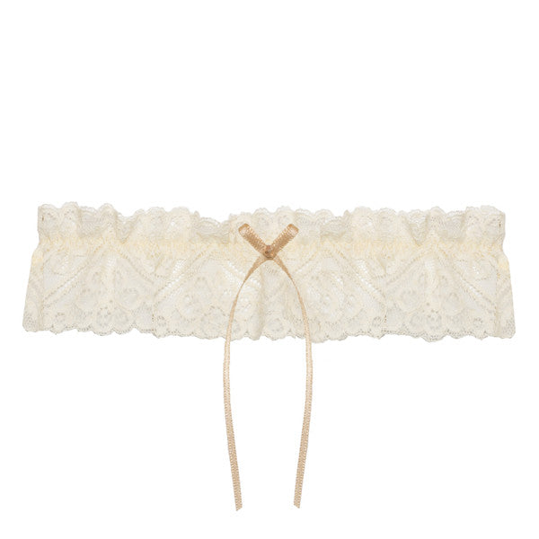 nude wedding garter
