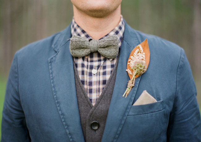 Rustic Autumn colour buttonhole inspiration