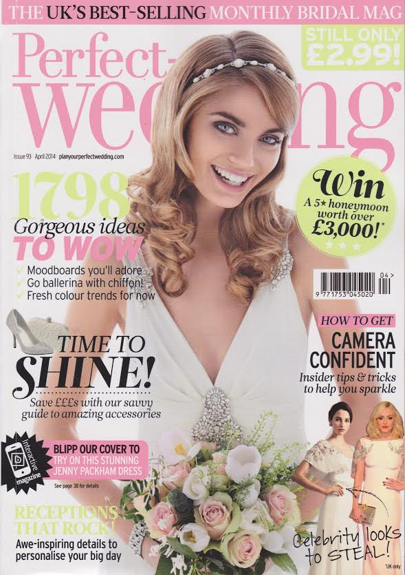 Perfect Wedding magazine features our wedding garters