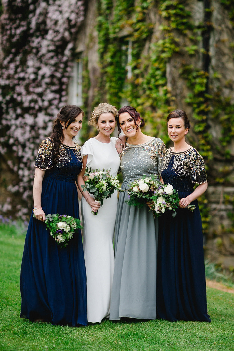Gorgeous detailed bridesmaids dresses
