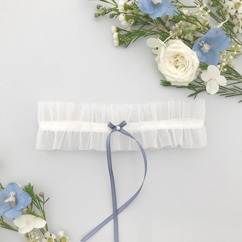 Tulle wedding garter - 'Ellé'