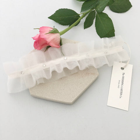 tulle wedding garter