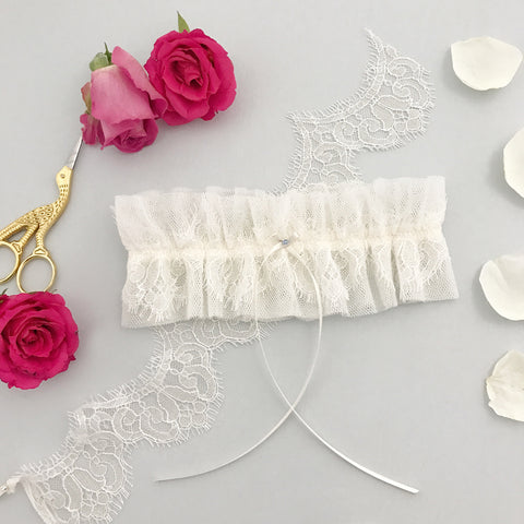french eyelash lace wedding garter
