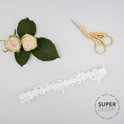 floral lace sleek wedding garter