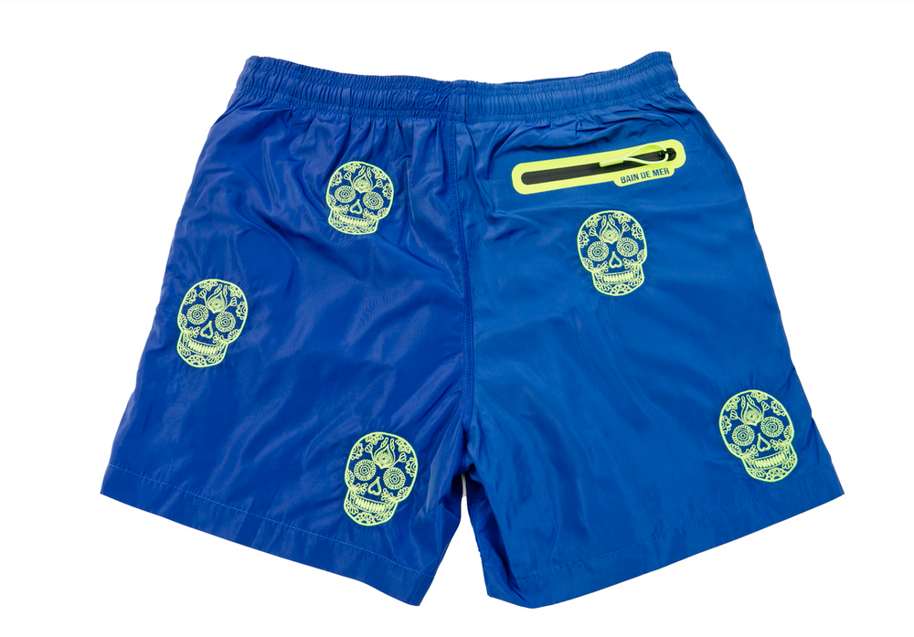 Load image into Gallery viewer, Salin - Royal Blue Skull Allover | Mens Swimwear