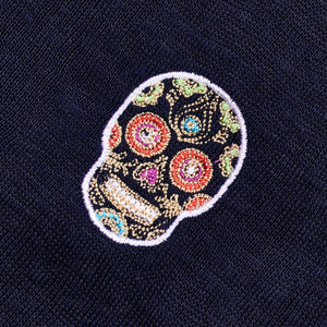 Load image into Gallery viewer, NIOULARGO SKULL | Long Sleeve Linen T-Shirt