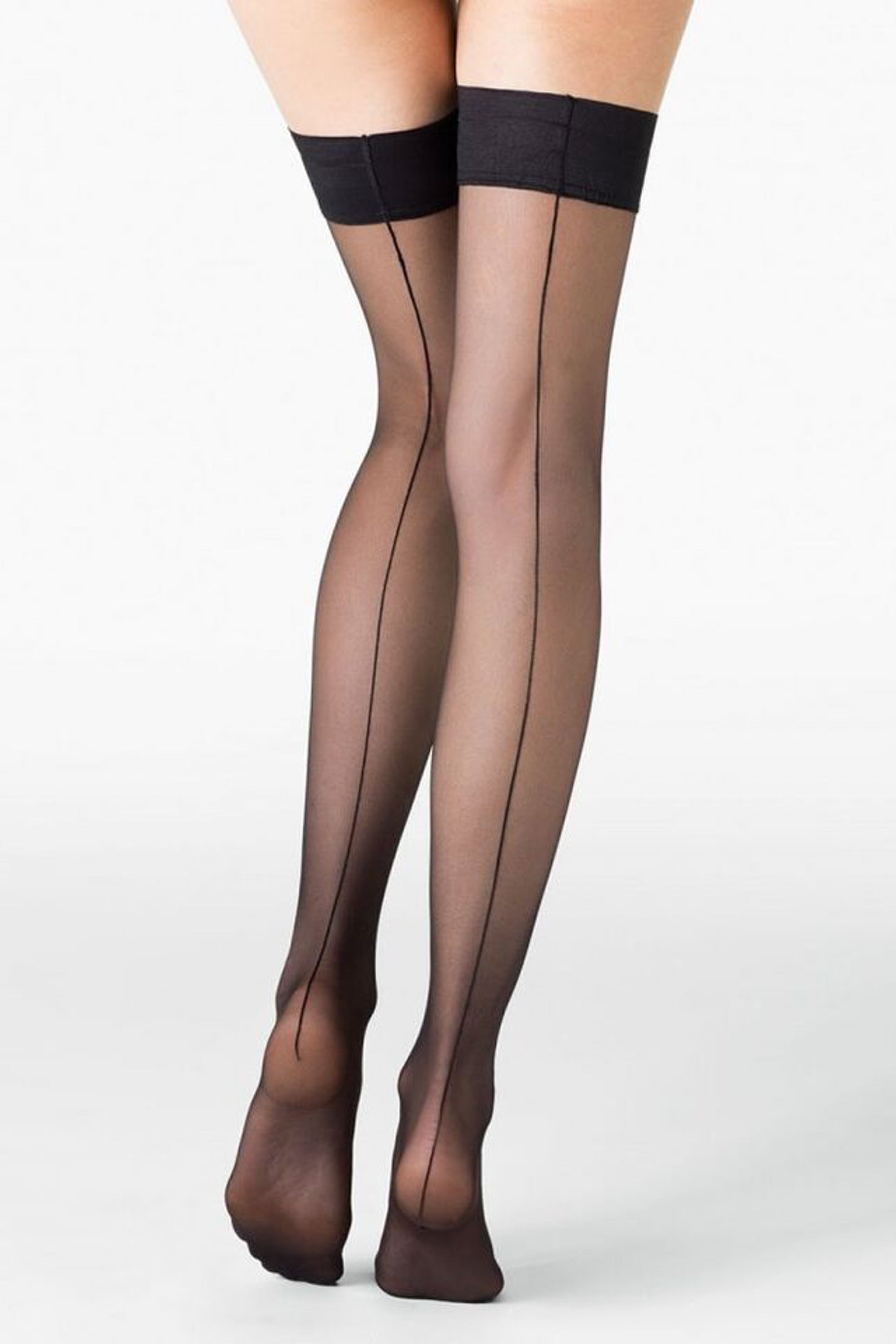 Fogal Catwalk Couture 10 Back Seam Thigh High Stay-Up 223