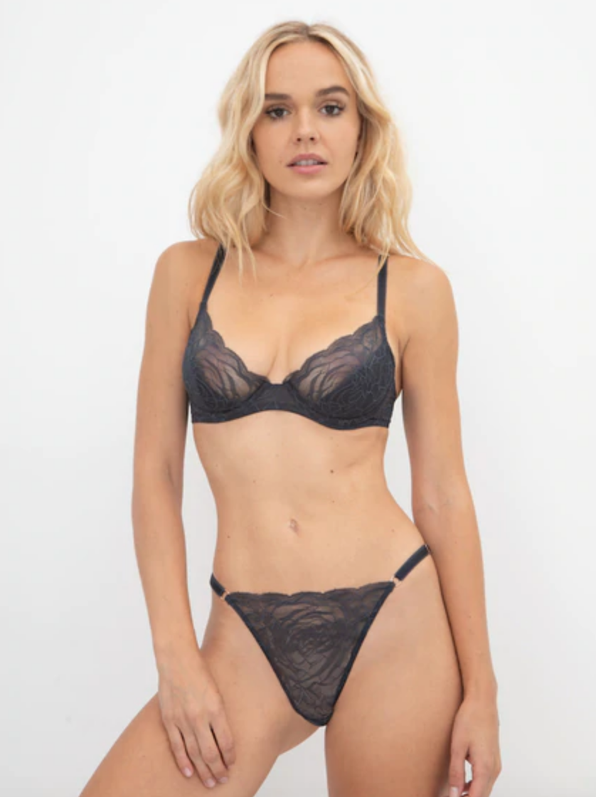 Samantha Chang All Lace Roses String w/ Adjustable Straps
