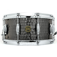 Gretsch Drums Gretsch Hammered Black Steel Snare Drum 6.5x14, S1-6514-BSH