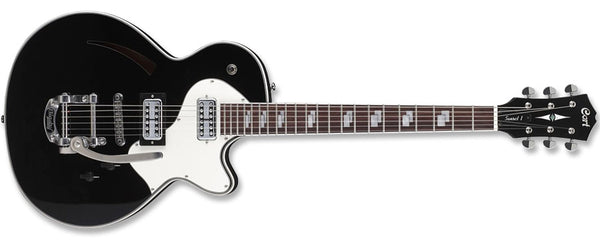 Cort Sunset Series Sunset I Electric Guitar, Black, TV Jones Classic & Classic Plus