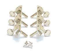 Grover 2x3 On Plate Vertical Nickel Tuning Heads,