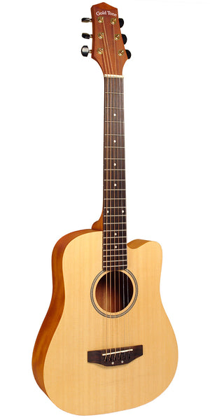 "Gold Tone M-Guitar Micro/Travel Guitar Satin, Compare to Baby Taylor, 21-3/4"" Scale Length w/ Bag"