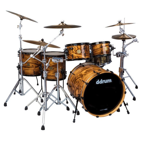 ddrum Dios 5 Pc Exotic Zebra Wood Natural Shell Pack