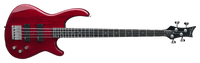 Dean Edge 1 4-String Bass Guitar Trans Red