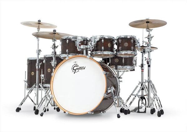 "Gretsch Drums Gretsch Catalina Maple 6-Piece Shell Pack w/Free Additional 8"" Tom Satin Deep Cherry Burst (22/8/10/12/14/16/14SN), CM1-E826PSDCB"