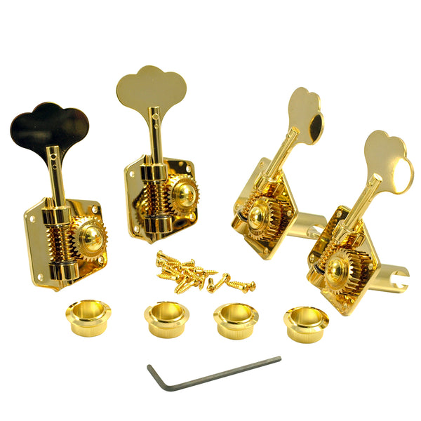 Gotoh 4 In Line Res-O-Lite Replacement Tuning Machines For Pre-CBS Fender Basses Gold