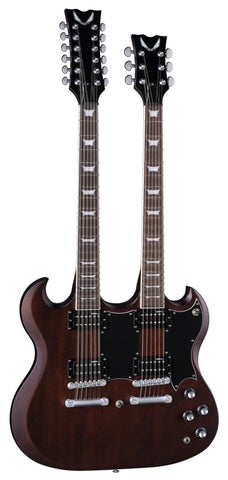 Dean Gran Sport Double Neck Worn Brown w/c