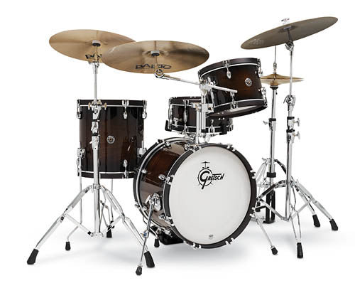 Gretsch Drums Catalina Special Edition (CS2) Walnut - Maple Hybrid 4-Piece Shell Pack (18/12/14/14SN) Walnut Burst, CS2-J484-WB
