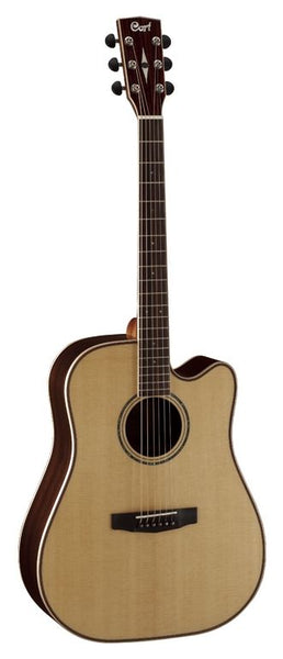 Cort AS Series AS-M5 Acoustic/Electric Guitar with Case, Natural