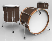 British Drum Company LON-20-CB-KC Lounge Club 20 3-piece drum set, mahogany and birch 5.5 mm blended