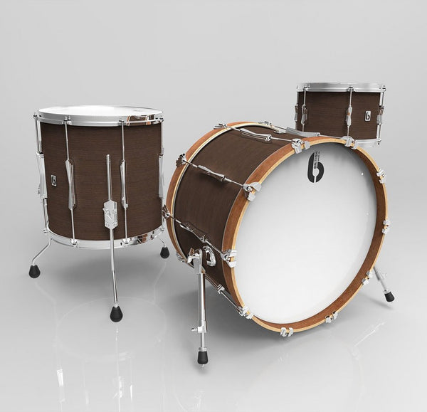 British Drum Co. Lounge Club 24 3-pc set, mahogany & birch 5.5 mm blended shells, Kensington Crown