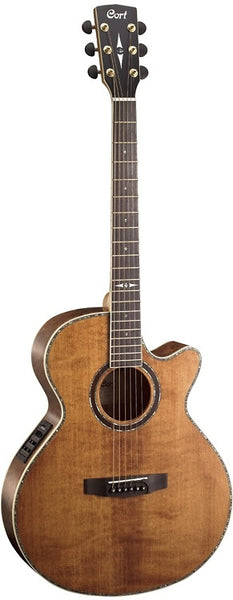 Cort SFX Series SFX10 Acoustic/Electric Guitar, Antique Brown