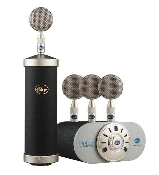 Blue Bottle Mic Locker -Flagship Tube Microphone and Capsule Collection Custom Textured Matte Black, 988-000035