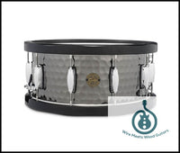 Gretsch 6.5X14 Hammered Black Steel Wood Hoop Snare 647139382388 S1-6514WH-BSH