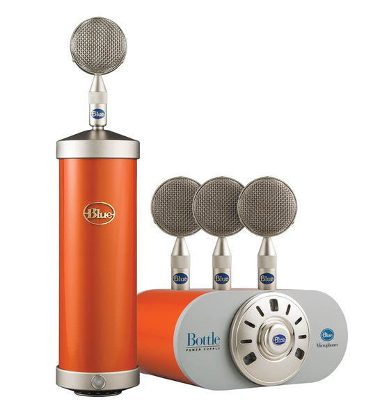 Blue Bottle Mic Locker -Flagship Tube Microphone and Capsule Collection Custom Hot Rod Orange, 988-000031