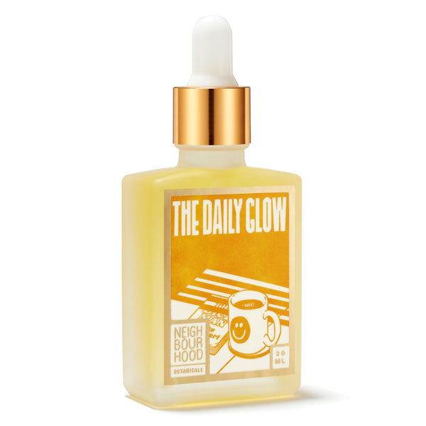 best morning serum, brightening serum, plumping serum, Neighbourhood Botanicals The Daily Glow Facial Oil, Milibie Beauty Store, Neighbourhood Botanicals LithuaniaNeighbourhood Botanicals The Daily Glow Facial Oil - Best Morning Face Serum