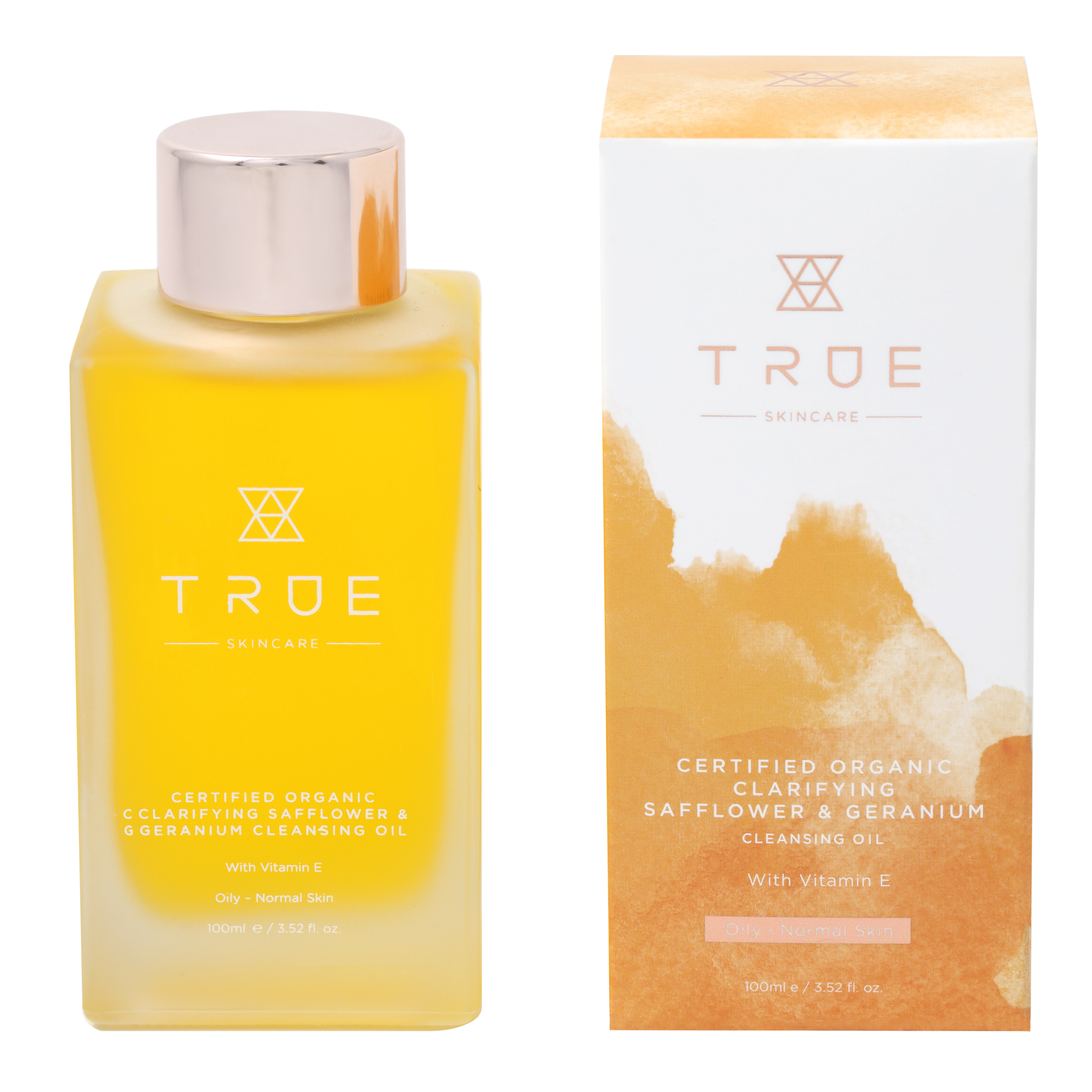TRUE Skincare Certified Organic Clarifying Safflower & Geranium Cleansing Oil